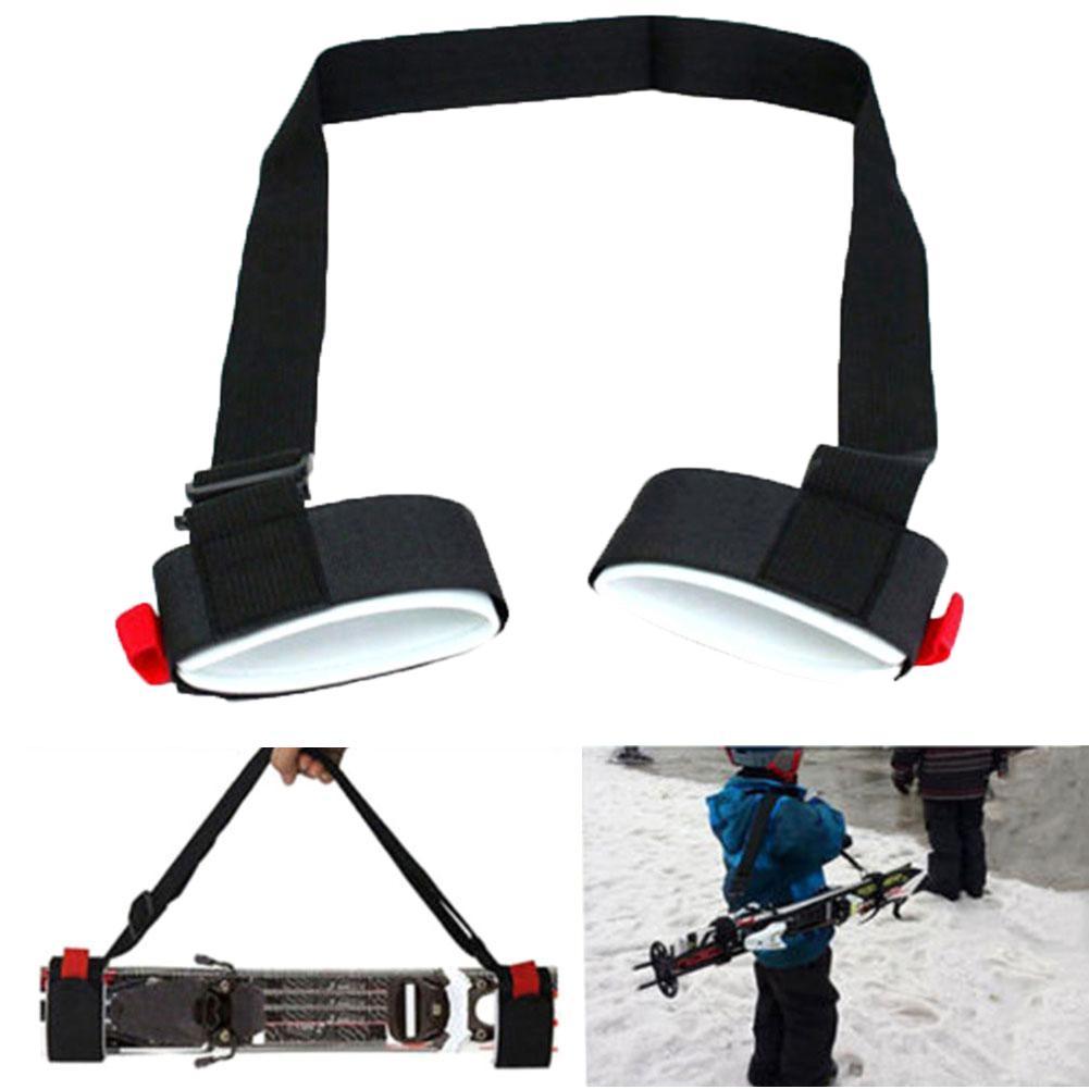 Adjustable Nylon Ski Handle Strap Snowboard Skiing Pole Shoulder Hand Carrier Handle Loop Straps