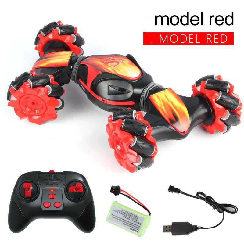 1:18 2.4GHz 4WD RC Stunt Car Deformable Gesture Off Road Car With Light RC Toy Creative Electric Toys For Kid  Birthday Gift