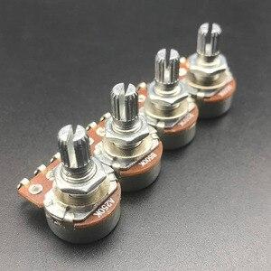 2 шт. A500K/250K потенциометра Splined маленький горшок Электрогитара Бас Эффект усилитель тон объем 15 мм детали вала