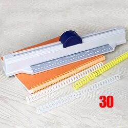 30-foro A4 di Carta/26-foro B5 di Carta/20-foro A5 Cartella di Carta Puncher Allentato -leaf Nucleo Vincolante Informazioni di Plastica Più Metallo Puncher