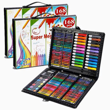 Toys Pencil Watercolor-Brush-Set Painting-Tool Gift-Box Art-Supplies Learn Crayon 168pieces