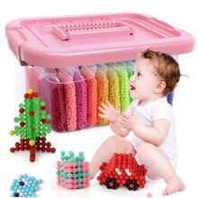 Montessori educação cérebro caixa mágica diy contas de água conjunto brinquedos para crianças crianças brinquedos artesanais para o bebê meninas meninos presente