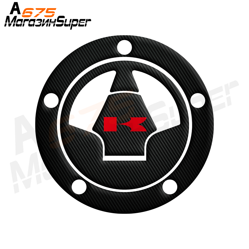 3D Carbon Fiber Tank Gas Cap Pad Filler Cover Sticker Decals Fit KAWASAKI Z1000 Z1000SX Z800 Z750 Z250