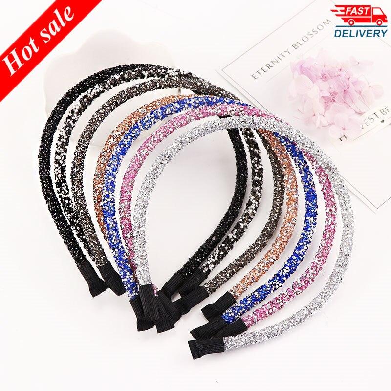 Bandeau de haute qualité en cristal pour femmes, accessoire pour cheveux, coloré et brillant, tendance, nouveauté | AliExpress