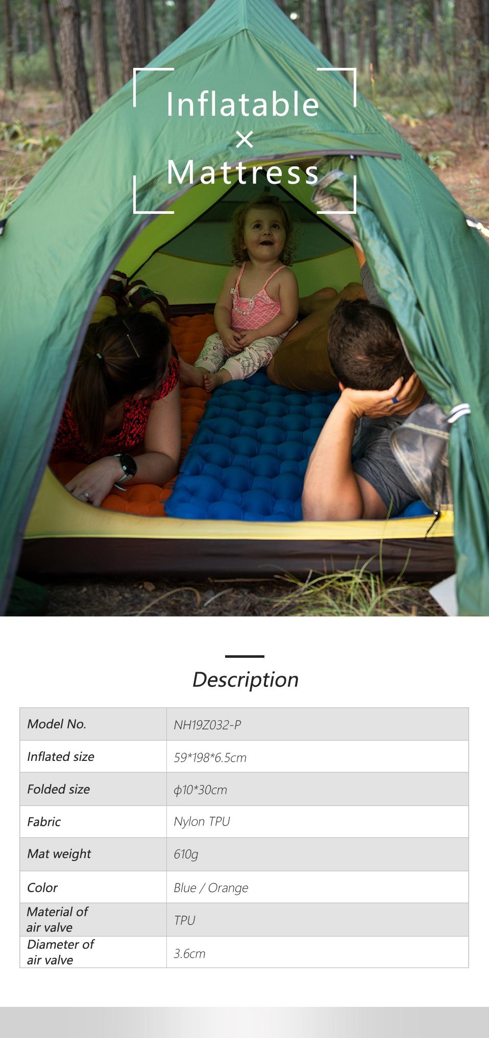 Naturehike náilon tpu acampamento esteira almofada de
