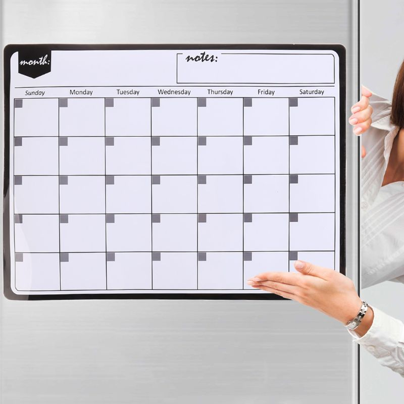 A3 Monthly Planner Magnetic Whiteboard Fridge Magnets Drawing Message Remind Pad M0XB