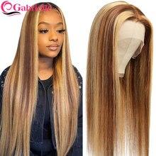 Gabrielle – perruque brésilienne Remy à reflets pour femmes, postiche de cheveux naturels lisses, colorés, blonds et bruns