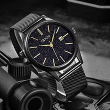лучшая цена Relogio Masculino Men Watch 2019 Black Gold Fashion Casual Luxury Waterproof Men Sports Wrist   Watch For Men Quartz Wristwatch