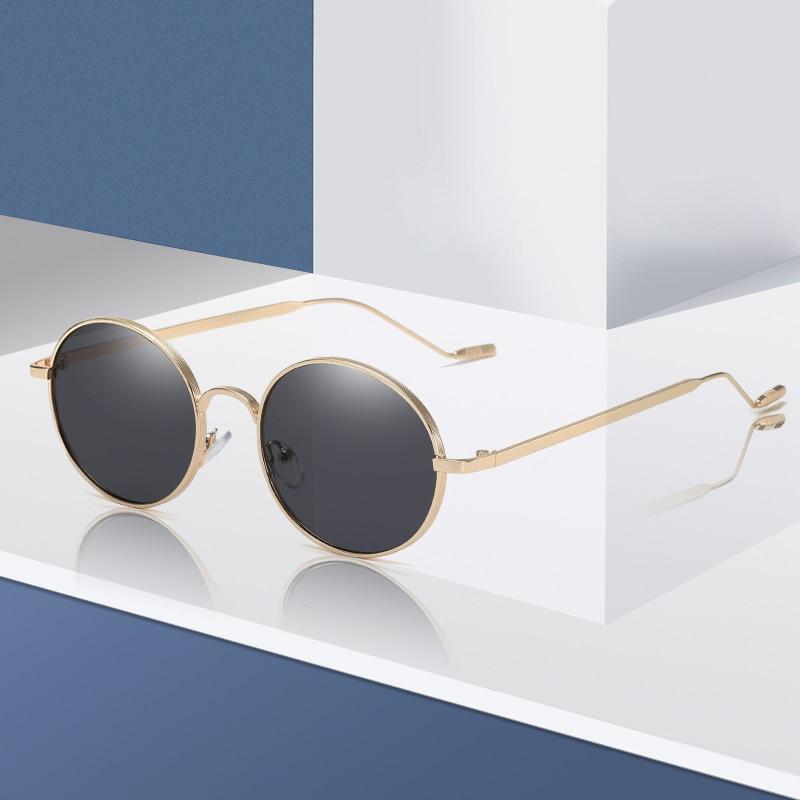 Brand Design New Fashion Sunglasses Women Men Metal Round Sun Glasses Vintage UV400 Sunglass Eyewear Shades Oculos De Sol