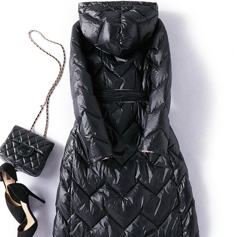 Winter Down Jacket Women 90% White Duck Down Parka Long Down Coats Female Slim Hooded Clothes 2020 Doudoune Femme LWL1289