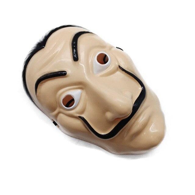 1pcs Salvador Dali Plastic Mask Paper House La Casa De Papel Cosplay Decoration Masquerade Halloween Mask Funny Tools