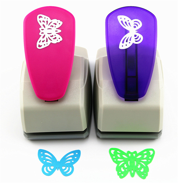 1pc Big Butterfly 5cm Craft Hole Punch Furador Eva Foam Puncher Kids Toys Diy Paper Cutting Machine Scrapbooking Tools Embossing
