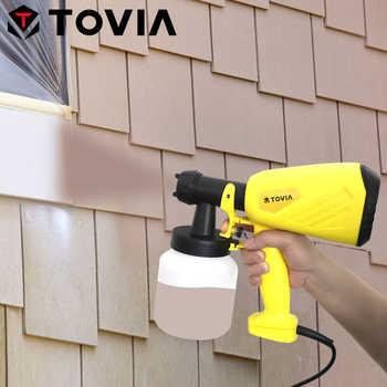 TOVIA 550W Electric Spray Gun 800ML HVLP Paint Sprayer 230V Flow Control Household Vertical Horizontal Circular Power Sprayer - DISCOUNT ITEM  37 OFF Tools