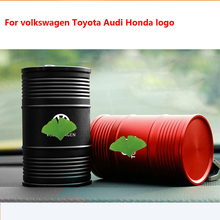 Car Ashtray For Volkswagen Honda Toyota Audi stainless steel ashtray Personalized metal oil drum car ashtray car Interior Acces stainless steel drum ashtray windproof car ashtray hotel ktv bar cigarette cup