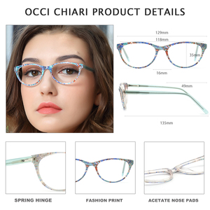 Image 4 - OCCI CHIARI Clear Glasses Frame For Girls Child Kid Anti blue Light Eyeglasses Brand Designer Acetate Computer Eyewear W CANZI