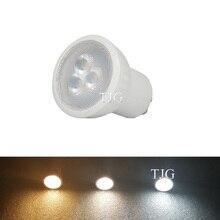 عكس الضوء السوبر مشرق صغير 3 واط GU10 MR11 LED لمبة أضواء Led الدافئة الأبيض البارد الأبيض الطبيعي الأبيض LED مصباح 3000k 4000k 6000k