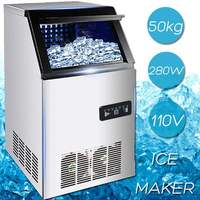 Efficient 50KG /24H 110V US Plug Electric Automatic Cube Ice Maker Commercial or Home Use Ice Making Machine 280W Ice Maker