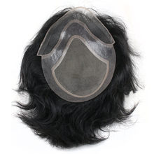Eseewigs Men's Durable Hairpiece Human Hair Toupee Wig Super Thin Skin Hair Replacement Remy Natural Hair System for Males