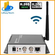 URay HEVC H.265 H.264 SD/HD/3g SDI в IP потоковое видео кодировщик WiFi HD-SDI 3G-SDI в Ethernet конвертер кодер беспроводной