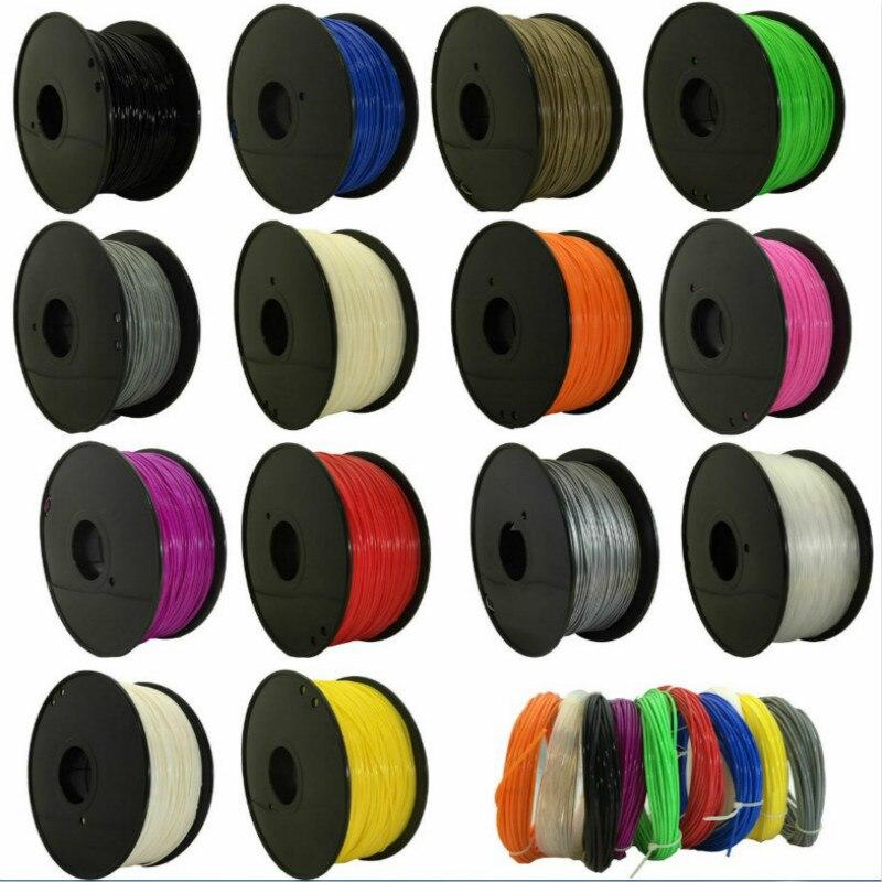 CTC 2019 למעלה איכות מותג 3D מדפסת נימה 1.75 1kg PLA פלסטיק גומי מתכלה חומר 9 צבעי סוגים