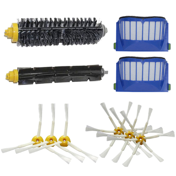 2 Blue Filter + 1 Set Main Brush Kit +6 Side Brush for Irobot Roomba 500 600 Series 560 581 620 630 650 660 Accessory 3x robot filter 3x side brush 1beater brush kit replacement for irobot roomba 600 series 595 620 630 650 660 12 pcs lot