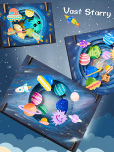 Craft Toys Dinosaur Starry DIY Vast Children Handmade Kids Interactive for Lovely Sky