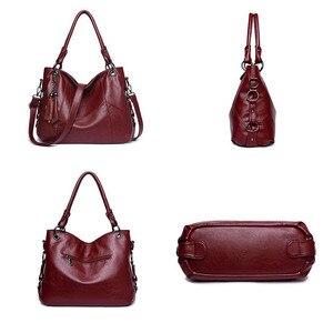 Image 4 - Yonder Большие женские сумки, кожаная сумка на плечо, Женская Большая вместительная Повседневная Сумка тоут, женские сумки высокого качества, сумки через плечо
