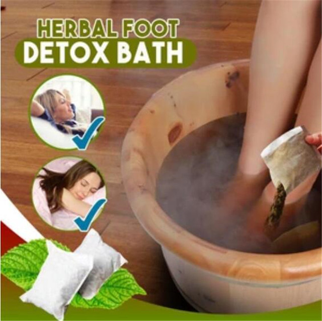 Herbal Foot Detox Bath Pack Chinese Herbal Moxa Leaves Ginger Feet Massage Dehumidification Dysmenorrhea Body Detox Dampnes 1