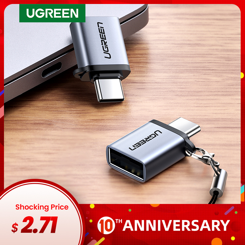 UGREEN USB C OTG Adapter Fast USB 3.0 to Type C Adapter for Macbook Pro Xiaomi mi 10 Mini USB Adapter Type-C OTG Cable Converter title=