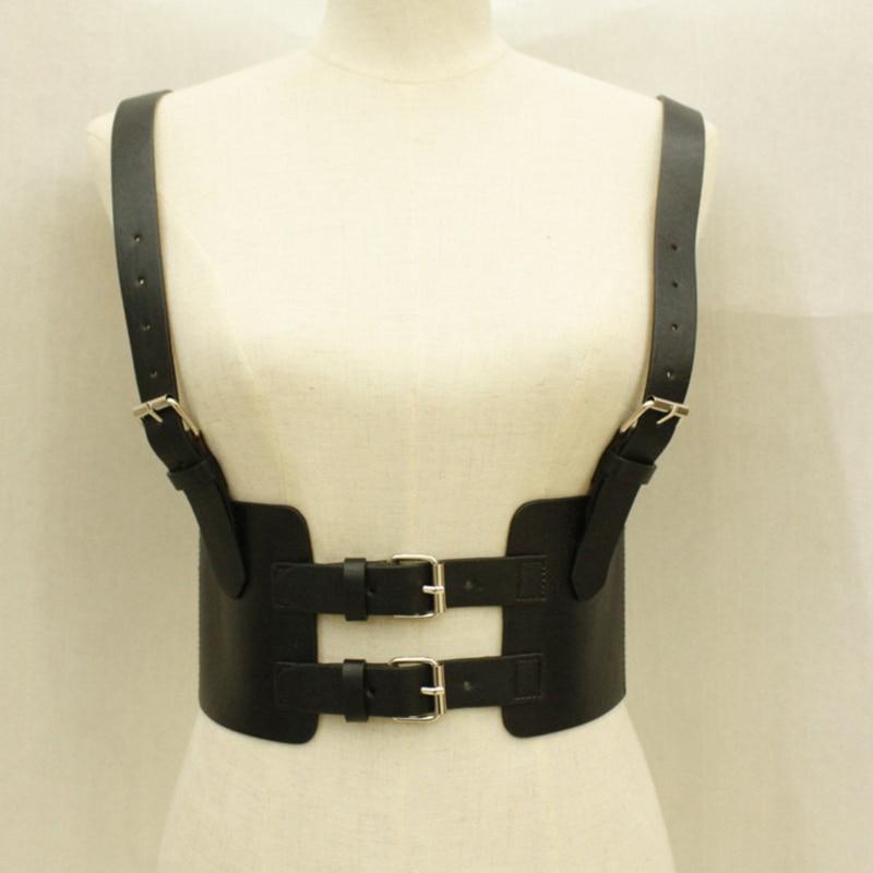 Fashion Leather Steampunk Sexy Underbust Waist Belt 2020 New Corset Vest Harness Strechy Waistcoat For Women
