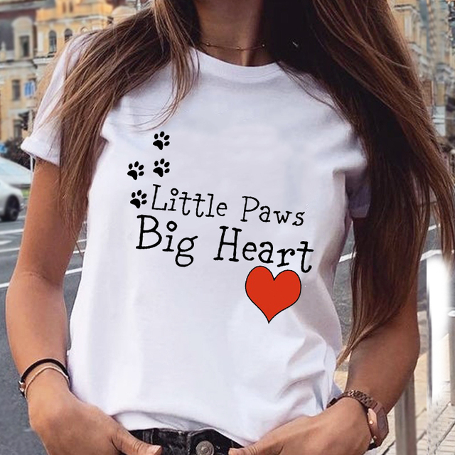 Women's Cotton T-Shirt With Kitten Print   3