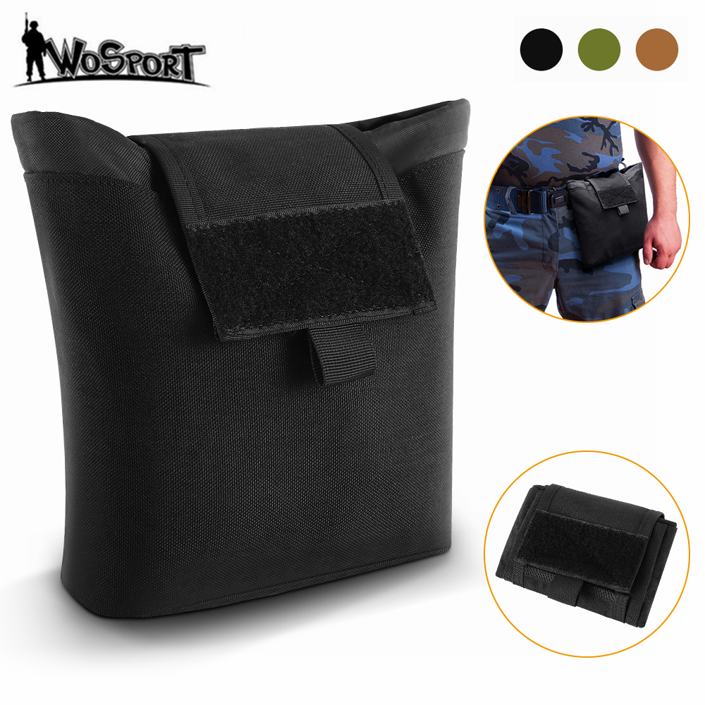 Tactical Molle Dump Drop Pouch Foldable Ammo Pouch Recovery Magazine Pack Outdoor Hunting Waist Pouch Utility Tool Accessory Bag