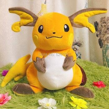 Bolso grande Original, monstruo de peluche de Raichu, muñeco con relleno de Animal, de 32cm Pikachu, regalo para chico