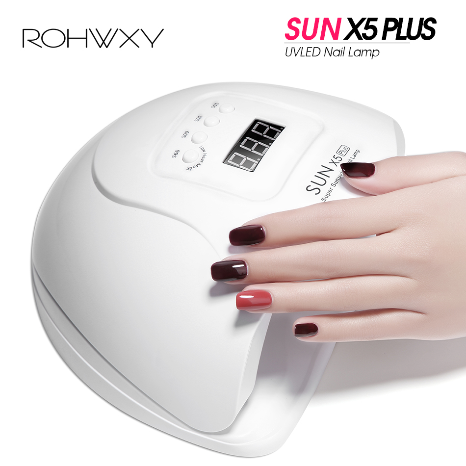 ROHWXY SUN 5X Plus Gel Nail Lamp For Manicure Nail Dryer 54W/48W Ice Lamp Drying Gel Polish UV LED Nail Lamp For Gel Varnish