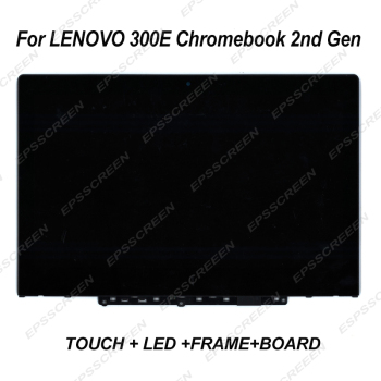 """11.6"""" screen for lenovo 300e Chromebook 2nd Gen 81MB 81QC MTK TOUCH DIGITIZER+LED DISPLAY+FRAME+BOARD ASSEMBLIES LCD Module"""