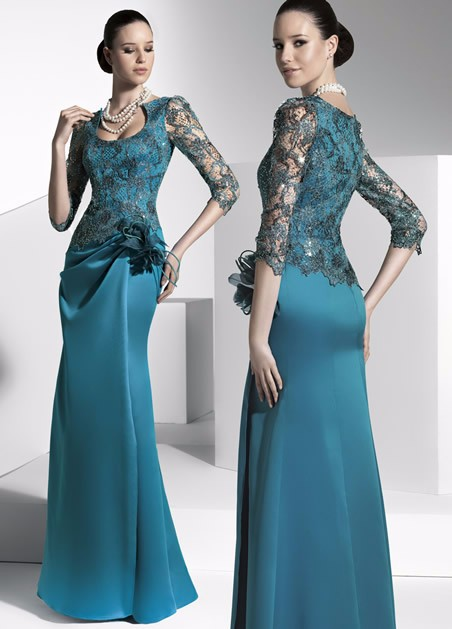 Elegant 2019 Mother Of The Bride Dresses Mermaid Half Sleeves Lace Flowers Plus Size Groom Long Mother Dresses For Wedding