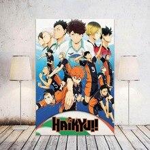 Wall-Stickers Poster Anime Art-Print Retro Kraft-Paper Haikyuu Japanese Home-Room High-Quality