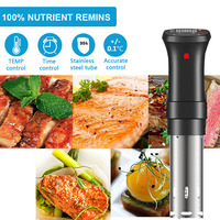 Vacuum Slow Sous Vide Food Cooker 1100W 20L Powerful Immersion Circulator Machine LCD Digital Timer Display Stainless Steel|Slow Cookers| |  -