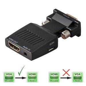 Image 1 - محول VGA ذكر إلى HDMI أنثى مع إخراج الصوت التناظرية إلى الرقمية AV محول الكابلات 1080P ل HDTV رصد العارض PC PS3
