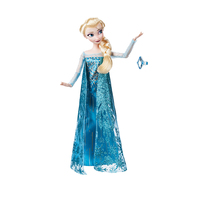 Original Disney Store Frozen princess Elsa Classic princess Doll with ring Figure toys For Children Christmas gift