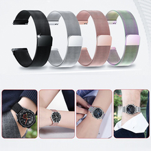 22mm Milanese Loop Strap For Samsung Gear S3 Galaxy Watch 46MM 42MM Active 2 Band 20mm Stainless Steel Band for Gear S2 Amazfit laforuta milanese loop strap for gear s3 frontier classic watch band 22mm 20mm 18mm stainless steel mesh samsung galaxy 46mm
