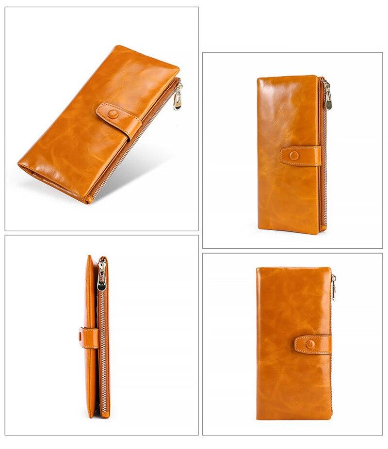 10 teile/los Mode Multifunktionale Geldbörse Aus Echtem Leder Brieftasche Frauen Lange Stil Rindsleder Handtasche Tasche - 5