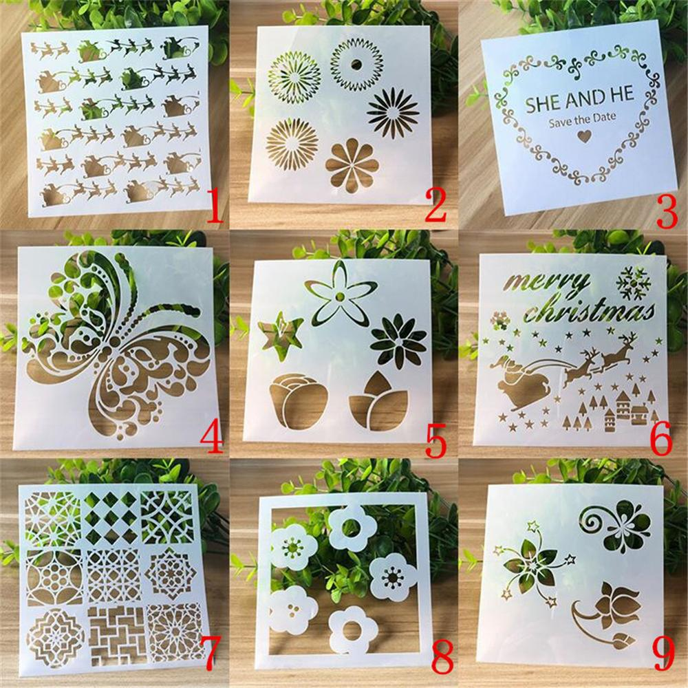 1 Pcs Stencil Bullet Journal Supplies For Painting Accessories Templates Student Openwork Template Embossing For Scrapbooking