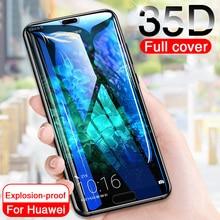 Vidrio Protector 35D para Huawei P20 Lite Pro P30 P10 Lite, cristal templado para Huawei Honor 9 Lite 10 V10, película protectora de pantalla