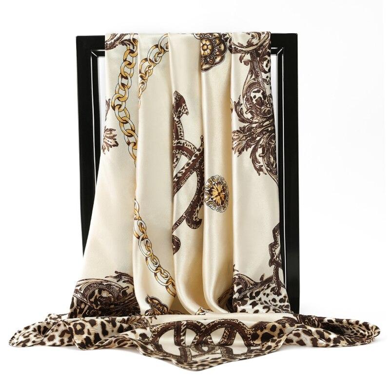 2020 шелковые шарфы женские платки с квадратной головкой хиджаб шарф дамский роскошный бренд шаль 90 см бандана большая накидка глушитель Бесплатная доставка|Женские шарфы|   | АлиЭкспресс