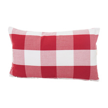 new red plaid striped pattern home chair cushion covers 30*50cm without inner cotton polyester Square lattice pillow covers X74 stylish floral girl pattern square shape flax pillowcase without pillow inner