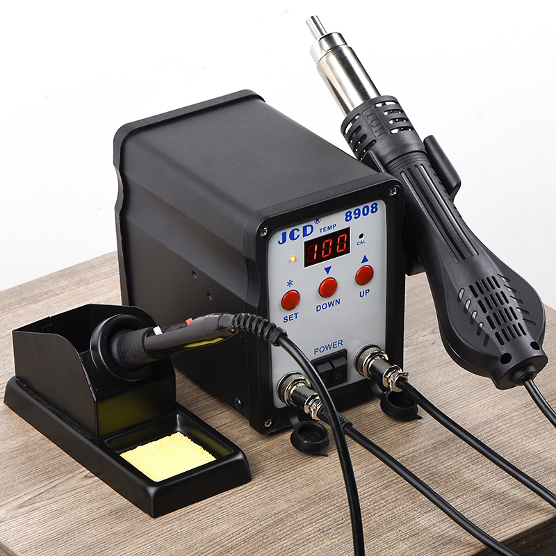 8908 1 Soldering JCD IN Soldering LCD Air SMD BGA Station With Repair Welding Station Digital 750W Gun 2 Rework Machine Iron Hot