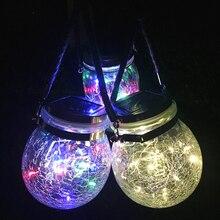 Solar Power Mason Jar Lid Lights Waterproof Led Night Light Fairy Firefly Jar Lid String Lamp Garland Solar Lights Lid Home Tool
