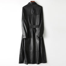 Korean Long Real Leather Black Sheepskin Jacket Fashion Coats and Jackets Women Spring Chaqueta Cuero Mujer Pph450(China)