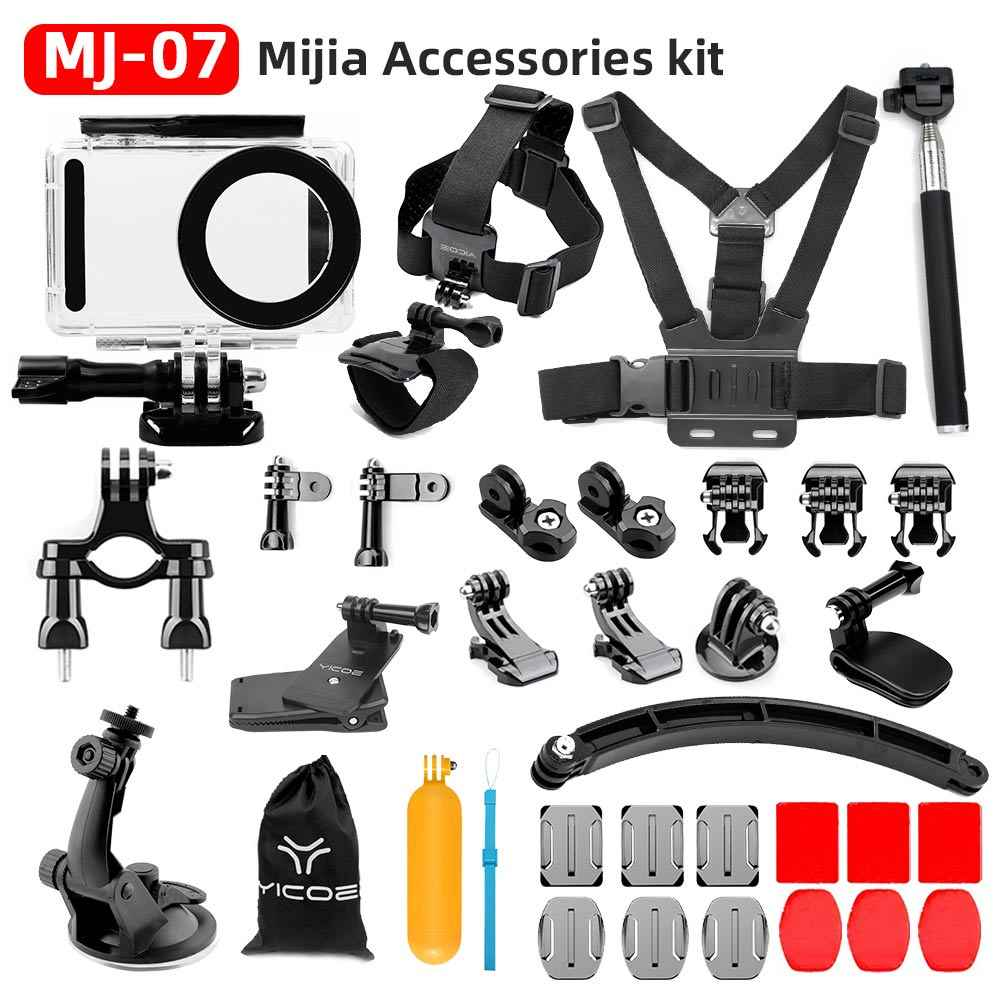 For Xiaomi Mijia 4K Accessories Set Mijia Self Stick Waterproof Housing Case Box Cap Protector Frame Shell Cover Case Cover Lens